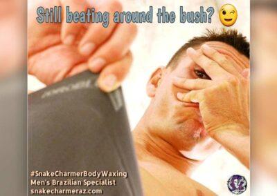 Snake Charmer Body Waxing - Beating Bush Meme