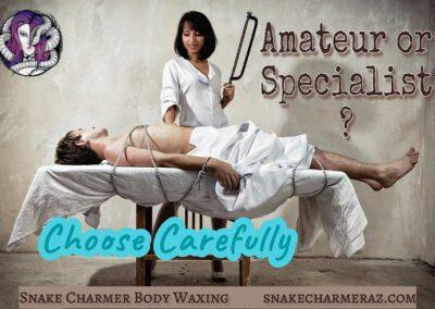 Snake Charmer Body Waxing - Choose Carefully Meme