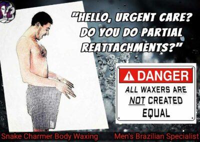 Snake Charmer Body Waxing - Reattachment Meme